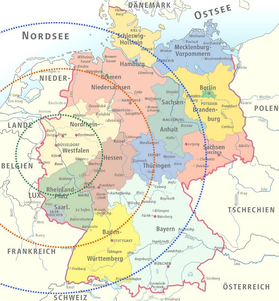 Nürnberg Leipzig Entfernung